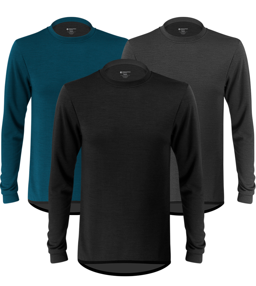 Aero Tech Men's High Performance Merino Wool Base Layer