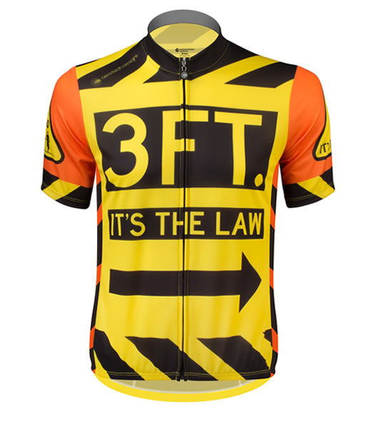 Aero Tech Sprint Jersey - 3 Feet It's the Law - Safety Cycling Jersey