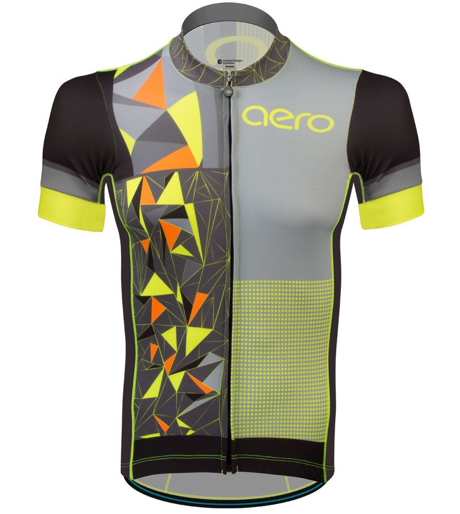 Aero Tech Men's Premiere Jersey - AggroTech - Safety Cycling Jersey