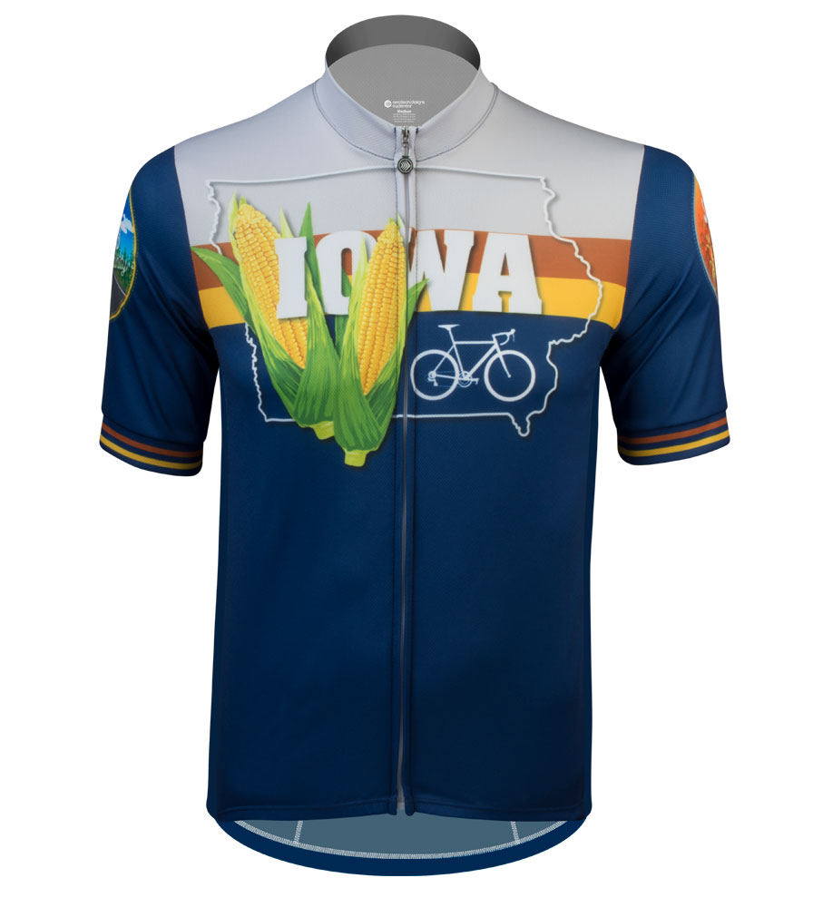 Aero Tech Sprint Jersey - Iowa - State Themed Cycling Jersey