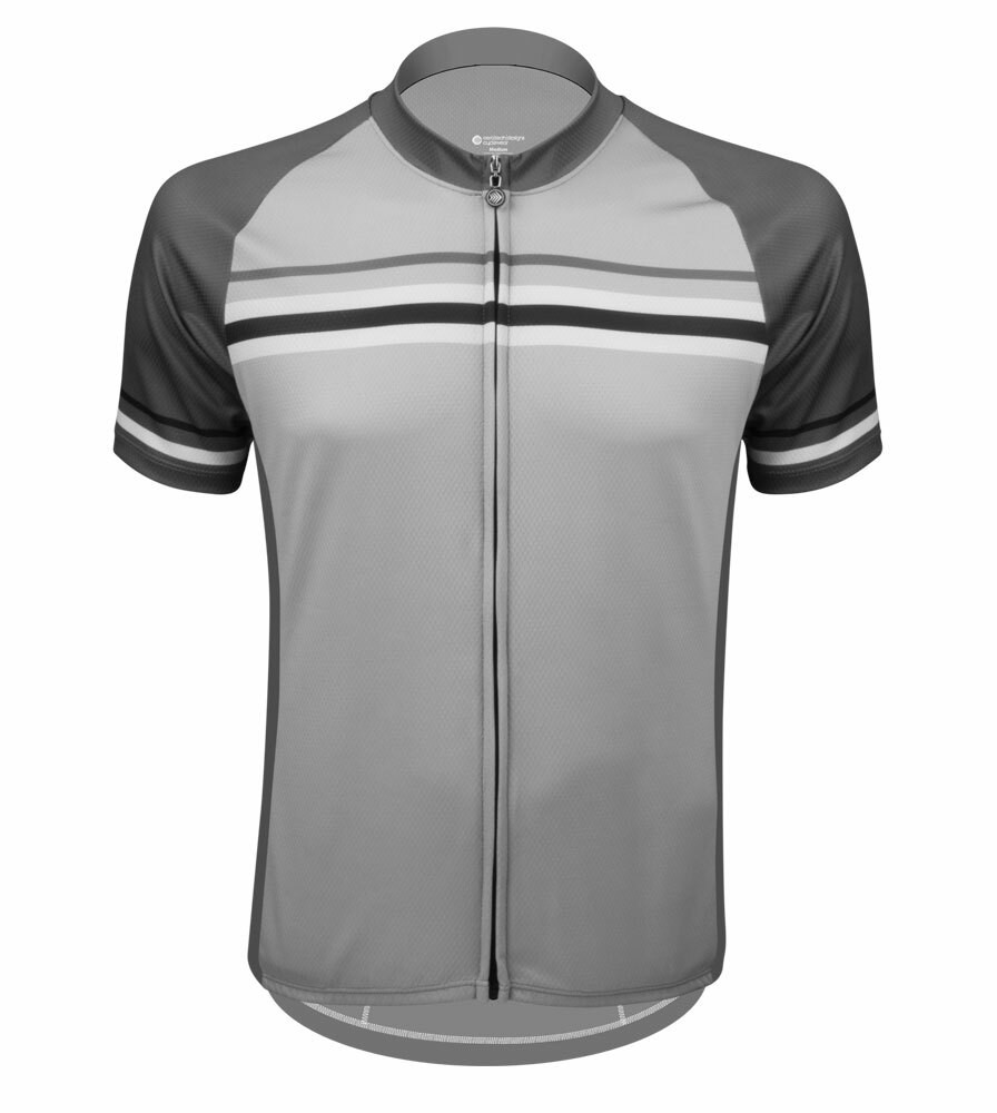 Aero Tech Men's Peloton Jersey - Clincher - Gray Striped Cycling Jersey Questions & Answers