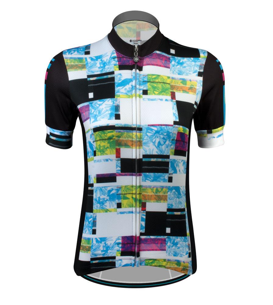 Length of medium women's cycling jersey