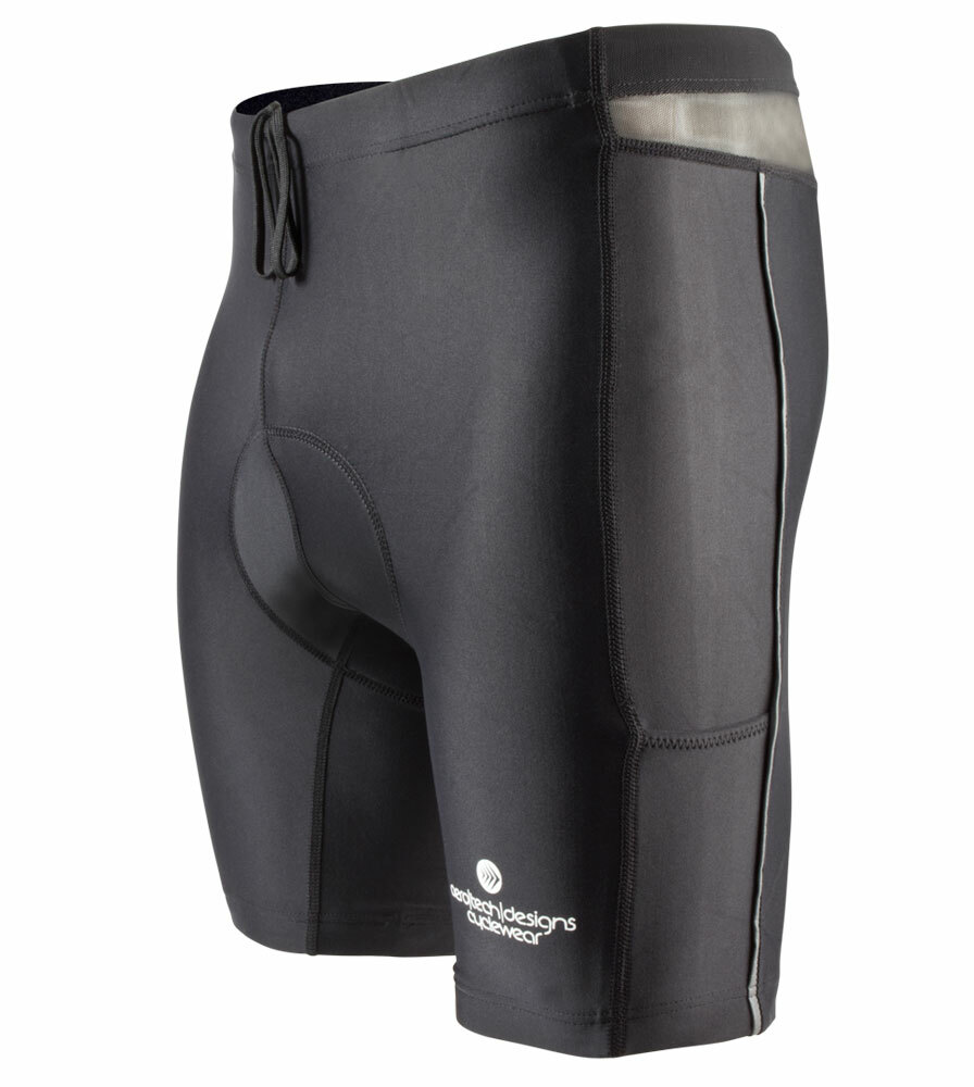 Aero Tech Men's PADDED Spinning Short Compression for Spin Class - SMALL