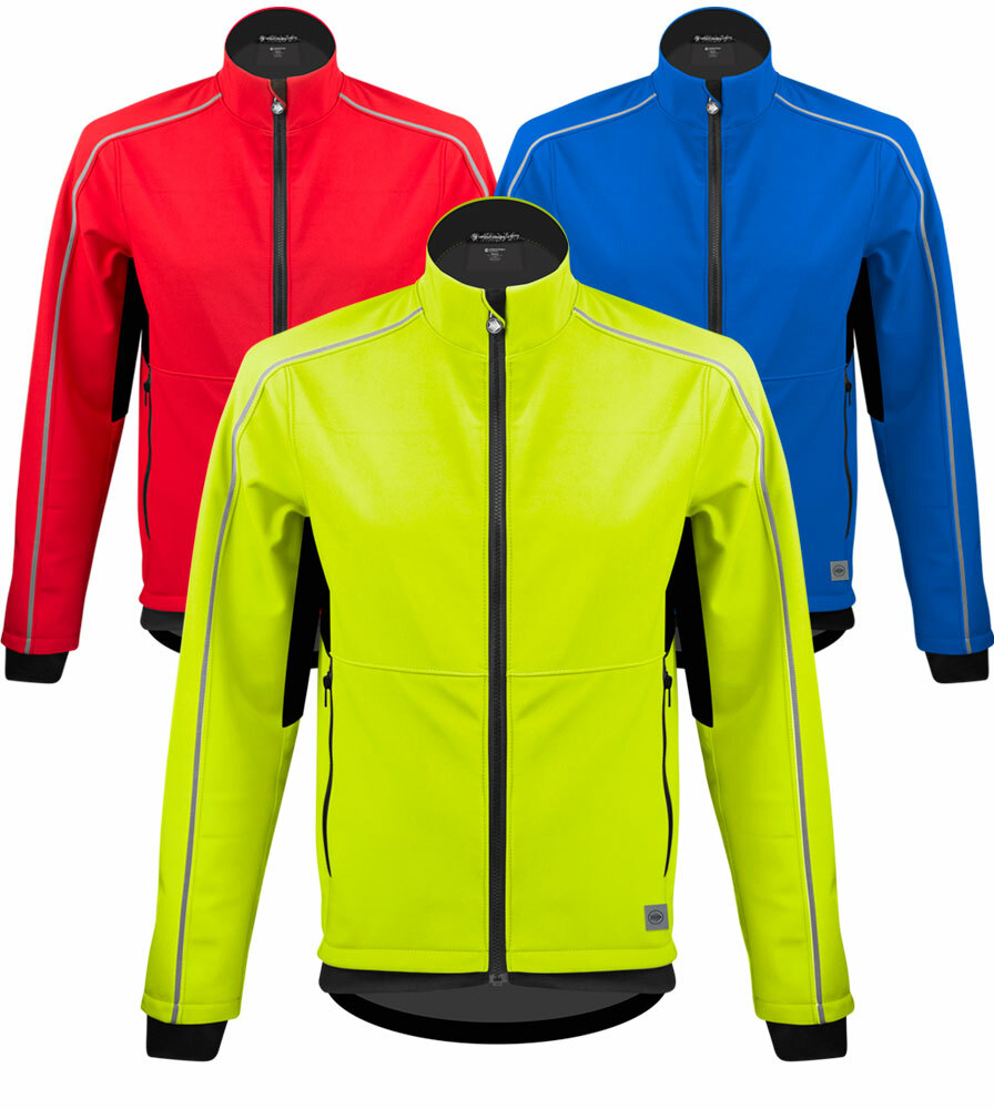 Aero Tech Men's USA Softshell Cycling Jacket - Quality Cold Weather Biking Coat