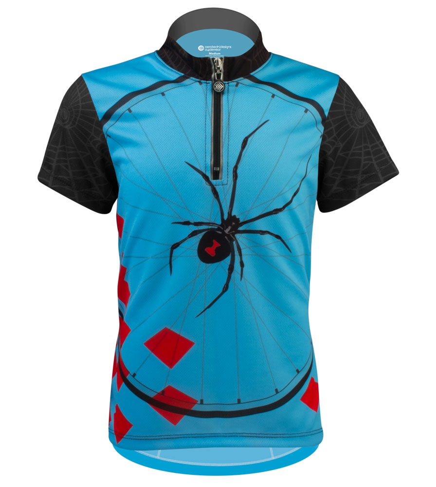 Aero Tech Youth Jersey - Black Widow - Children's Spider Cycling Jersey
