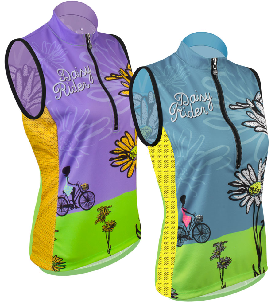 Aero Tech Women's Bella Sleeveless Cycling Jersey - Daisy Rider - Woman's Specific Fit Jersey Questions & Answers