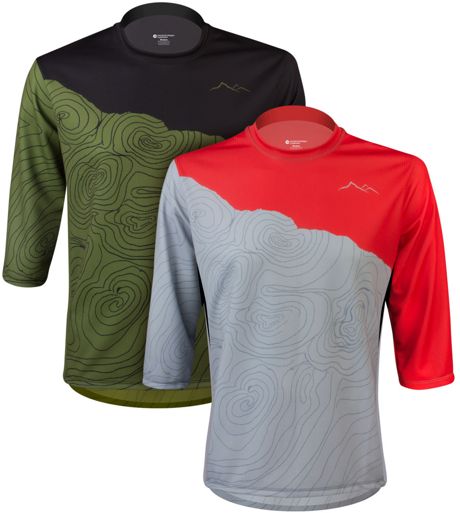 Hi there, how long is the 3XL Aero Tech Camber MTB Jersey - Topo - 3/4 Sleeve Jersey and do you ship to Australia?