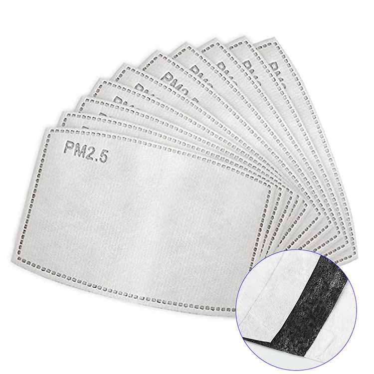 Face Mask Filters PM2.5 Five Layer Filter for Masks - 10-Pack