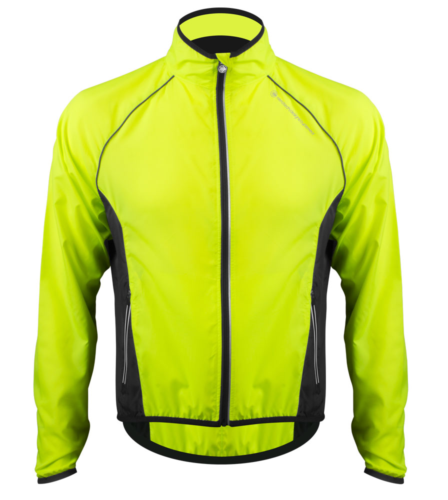 Aero Tech Men's Windproof Packable Safety Jacket - High Visibility Windbreaker