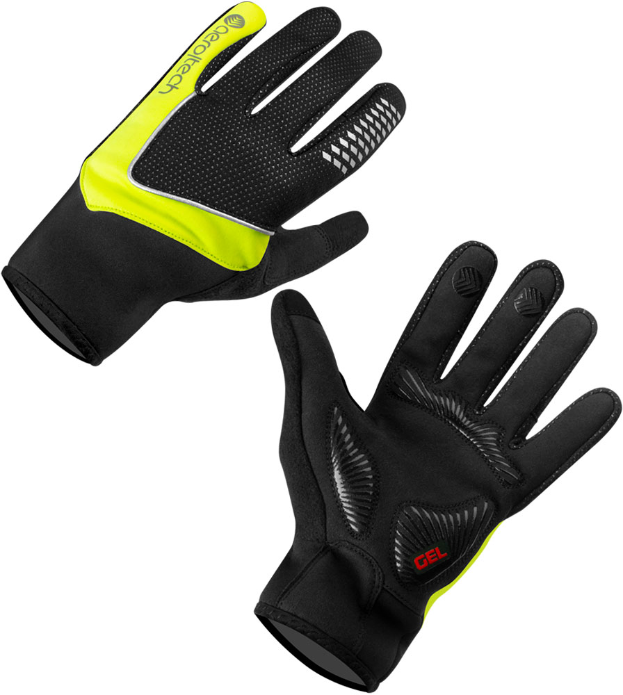 Aero Tech Mid-Weight Windstop Cycling Glove with Gel Padded Palms