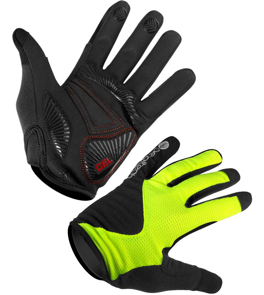 Aero Tech Enduro MTB Glove - Lightweight Full Finger Glove with Gel Padded Palm
