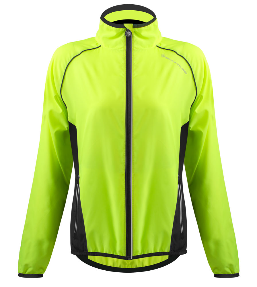 Aero Tech Women's Windproof Packable Safety Jacket - High Visibility Windbreaker Questions & Answers