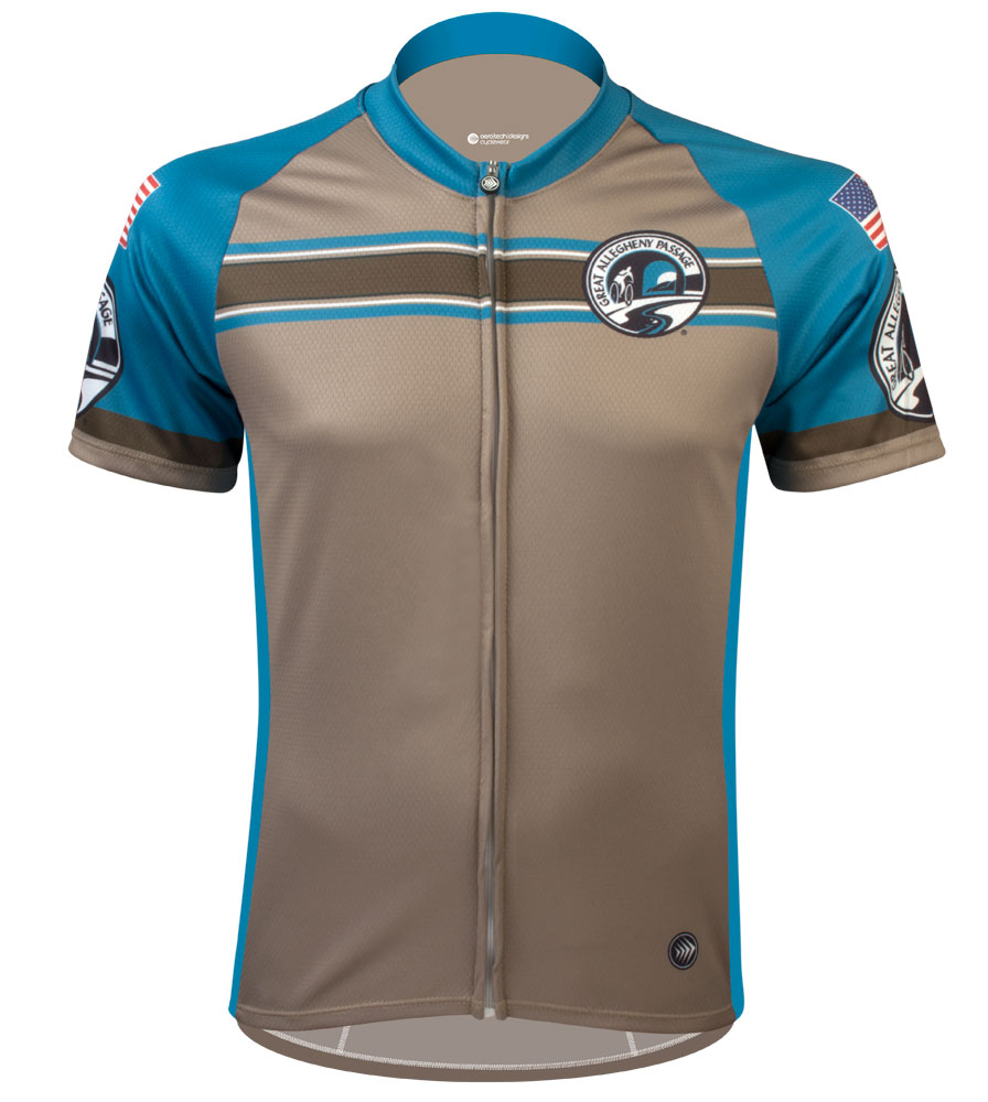Greater Allegheny Passage Teal Stripe Jersey Questions & Answers