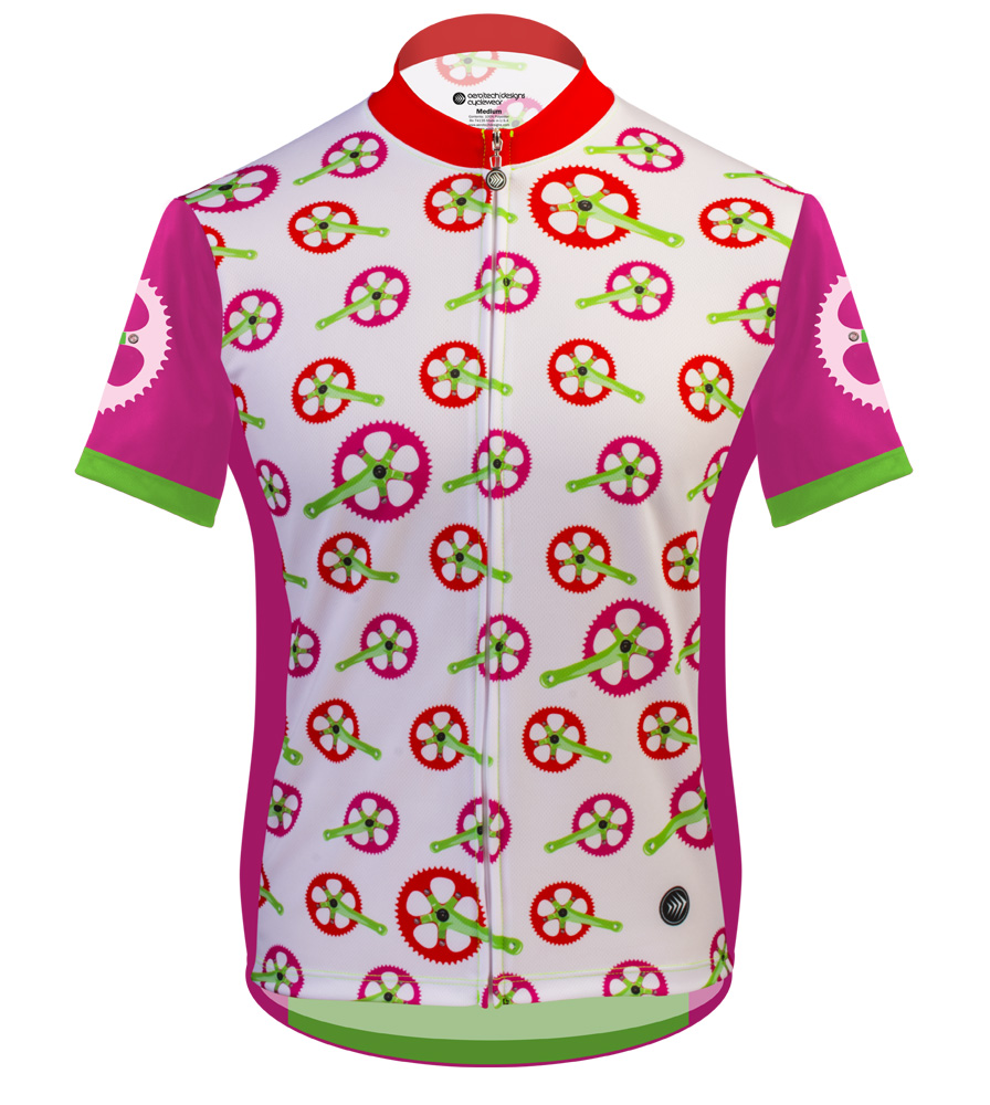 Aero Tech Women's Empress Jersey - Strawberry Fields - Made in USA Printed Cycling Jersey Pink Questions & Answers