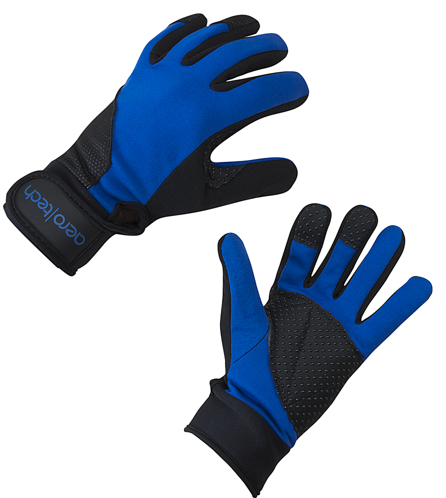Aero Tech Blue Windproof Cycling Full Finger Gloves Questions & Answers