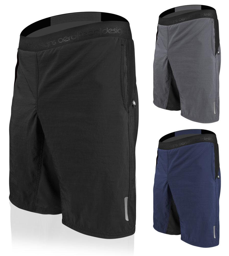 Aero Tech BIG Men's USA MTB Mountain PADDED Bike Shorts