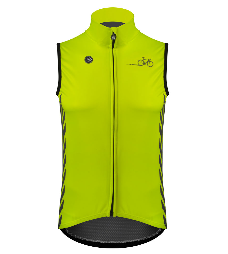 Aero Tech Designs Elite Cycling Gilet Vest - High Visibility- X-SMALL