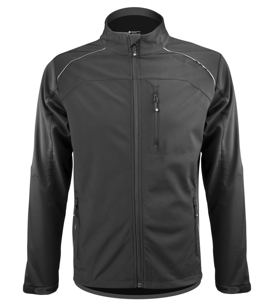 This jacket is a good option for what I do:   running and biking. I'm 6-0 / 145lb -- will large fit?