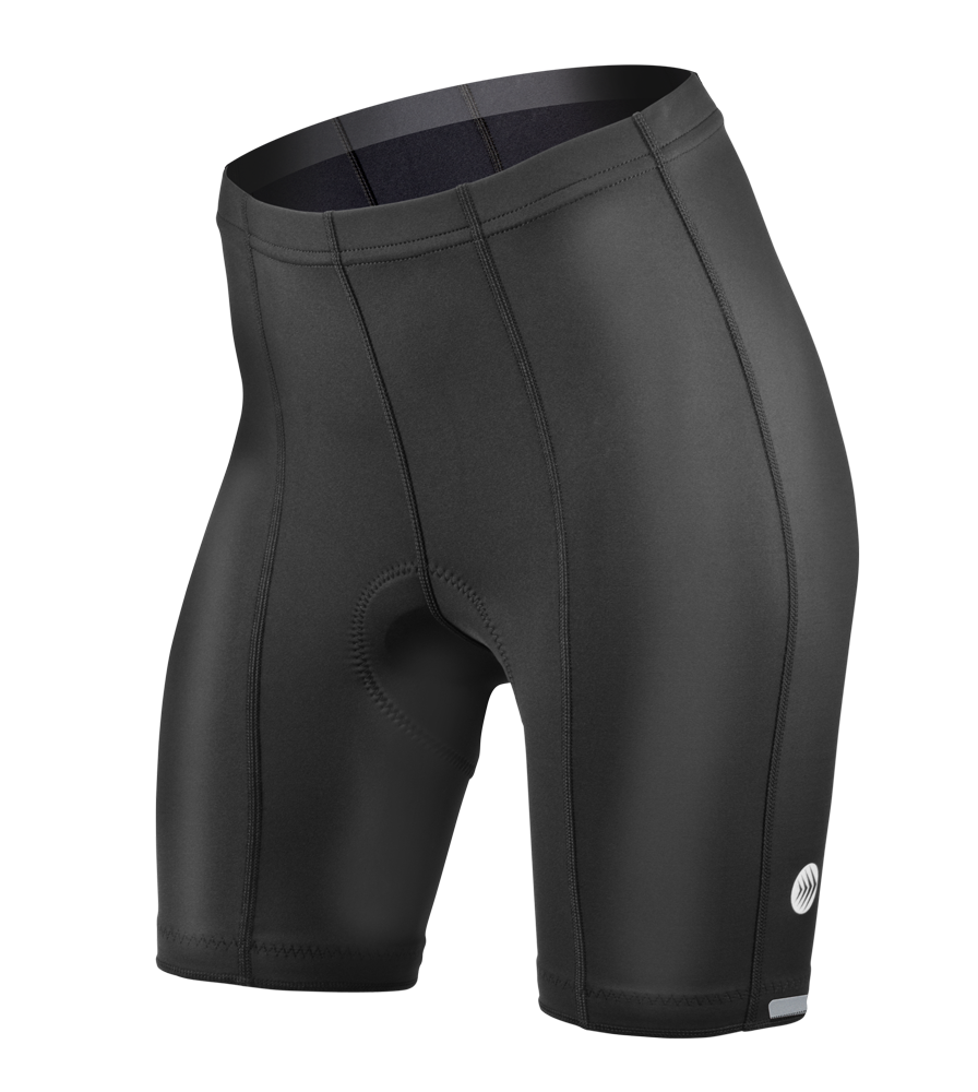 Aero Tech Women's Top Shelf PADDED Bike Shorts -  Long Distance Pad
