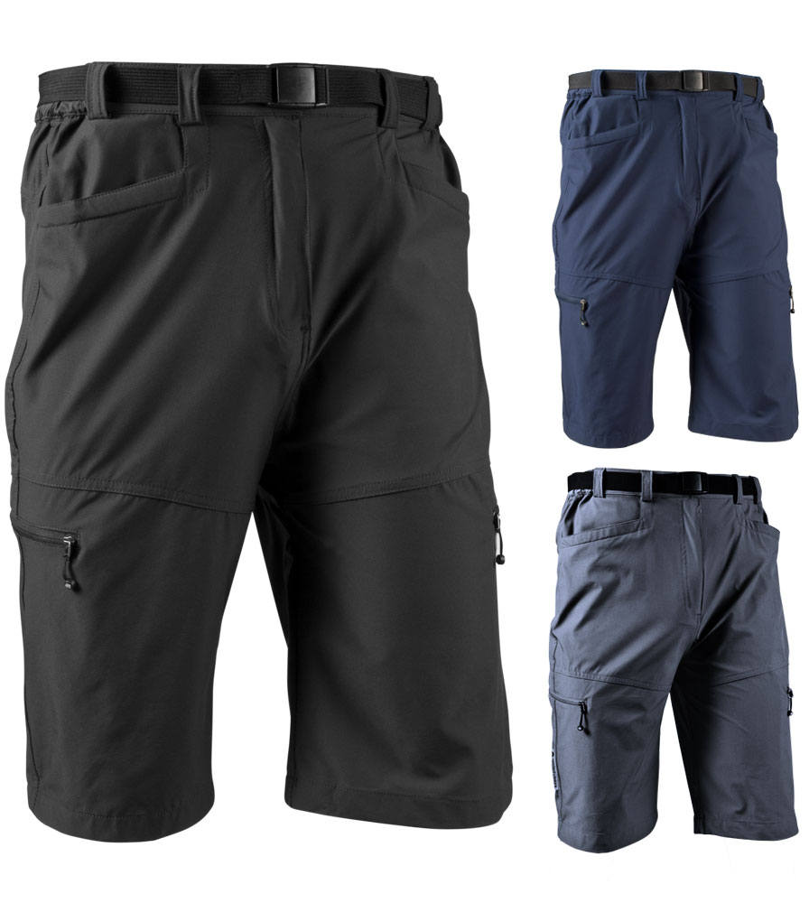 Aero Tech Men's Commuter Urban Cargo Shorts - Multi-Sport UNPADDED Casual Look