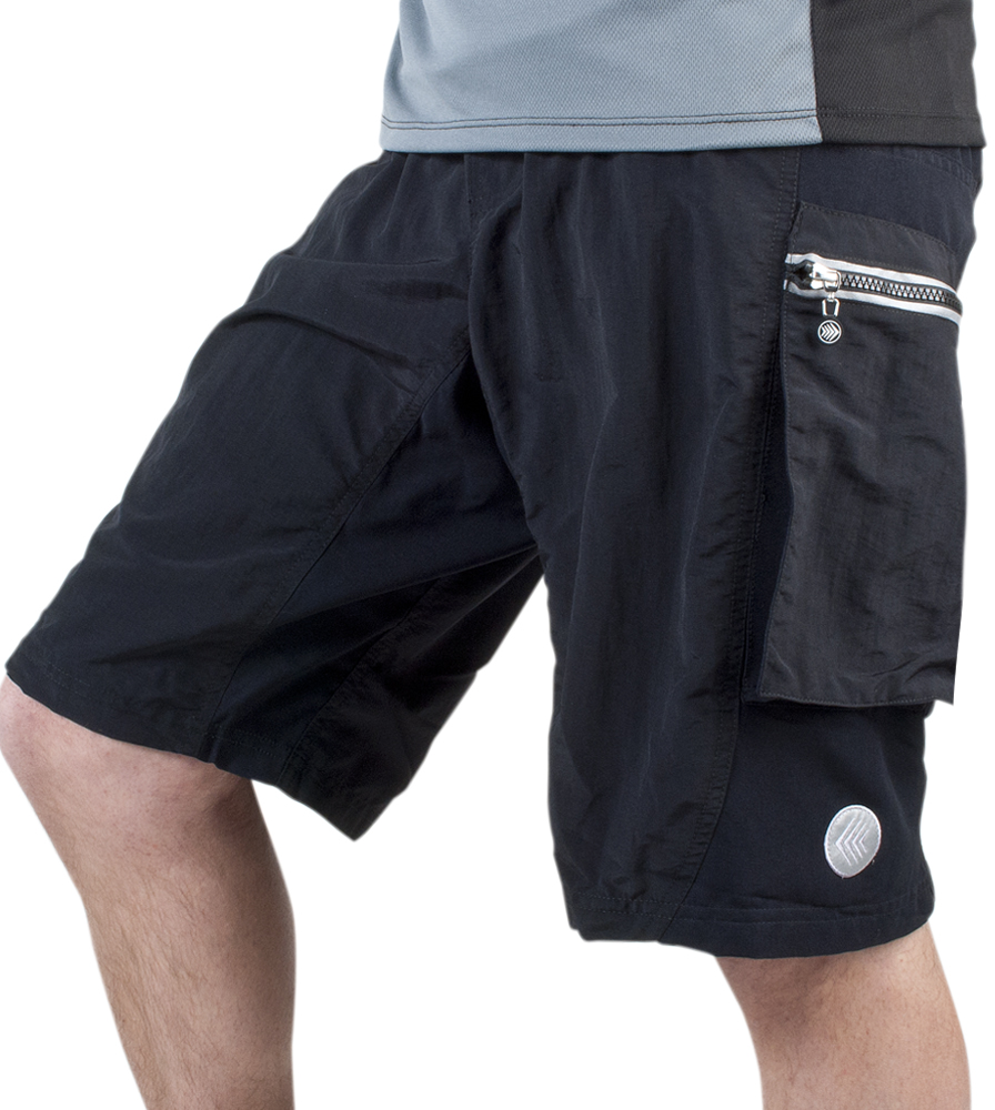 Aero Tech Men's Outlaw Bullet Cycling Mountain PADDED Bike Short - Made in USA