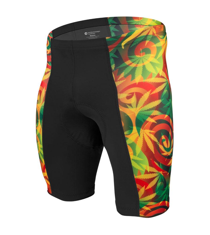Aero Tech Men's Rasta Pro PADDED Bike Shorts