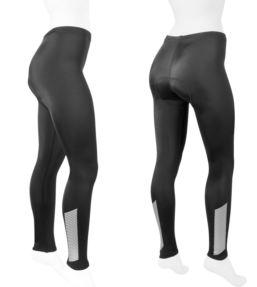 Aero Tech Women's 3M Reflective Elite Slasher PADDED Cycling Tights
