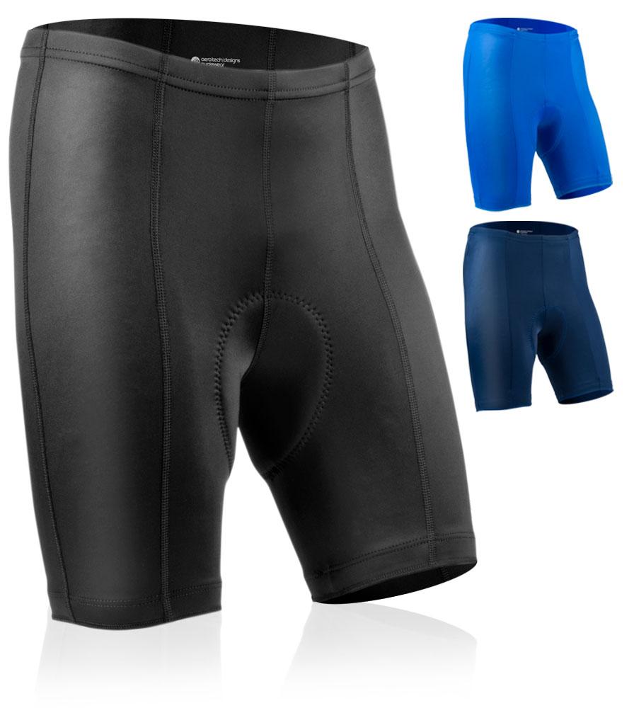 Aero Tech Men's Pro Bike Shorts PADDED Anti Chafe Lightweight Pad 8 Panels