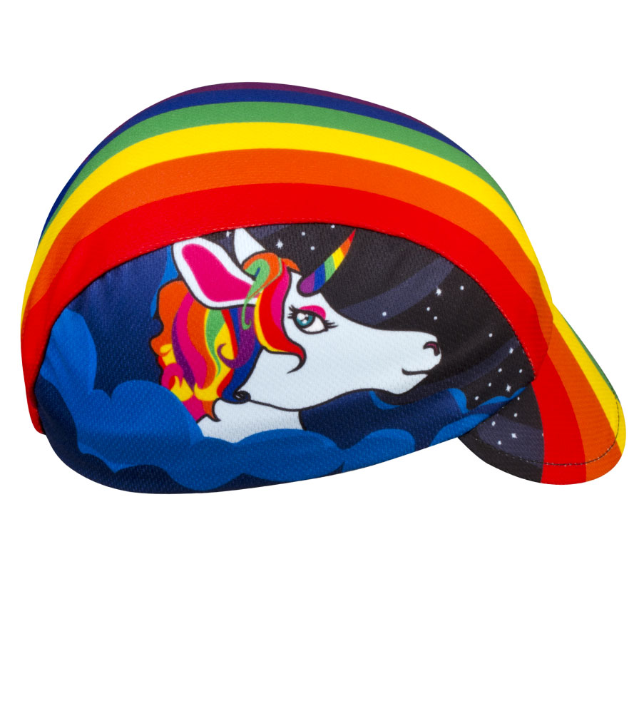 Aero Tech Rush Cycling Caps - Rainbow One of a Kind - Bicycling Unicorn Questions & Answers
