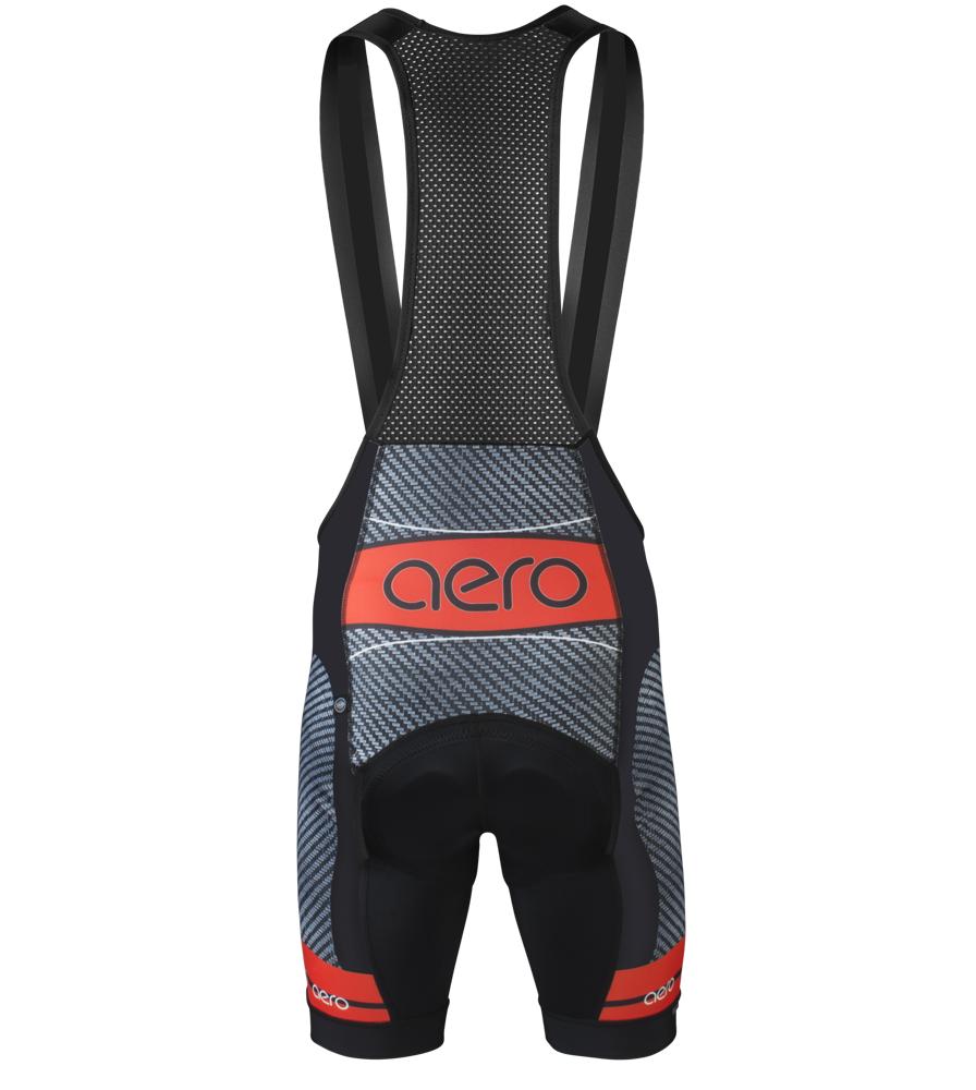Aero Tech Men's Premiere Bib Shorts - Advanced Carbon - Elite PADDED Bibs - BibShorts