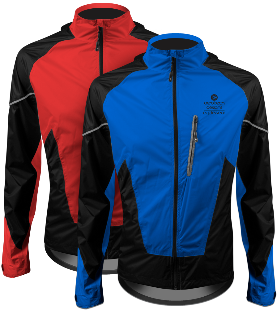 Aero Tech TALL Men's Windproof and Waterproof Cycling Jacket - Rain Gear