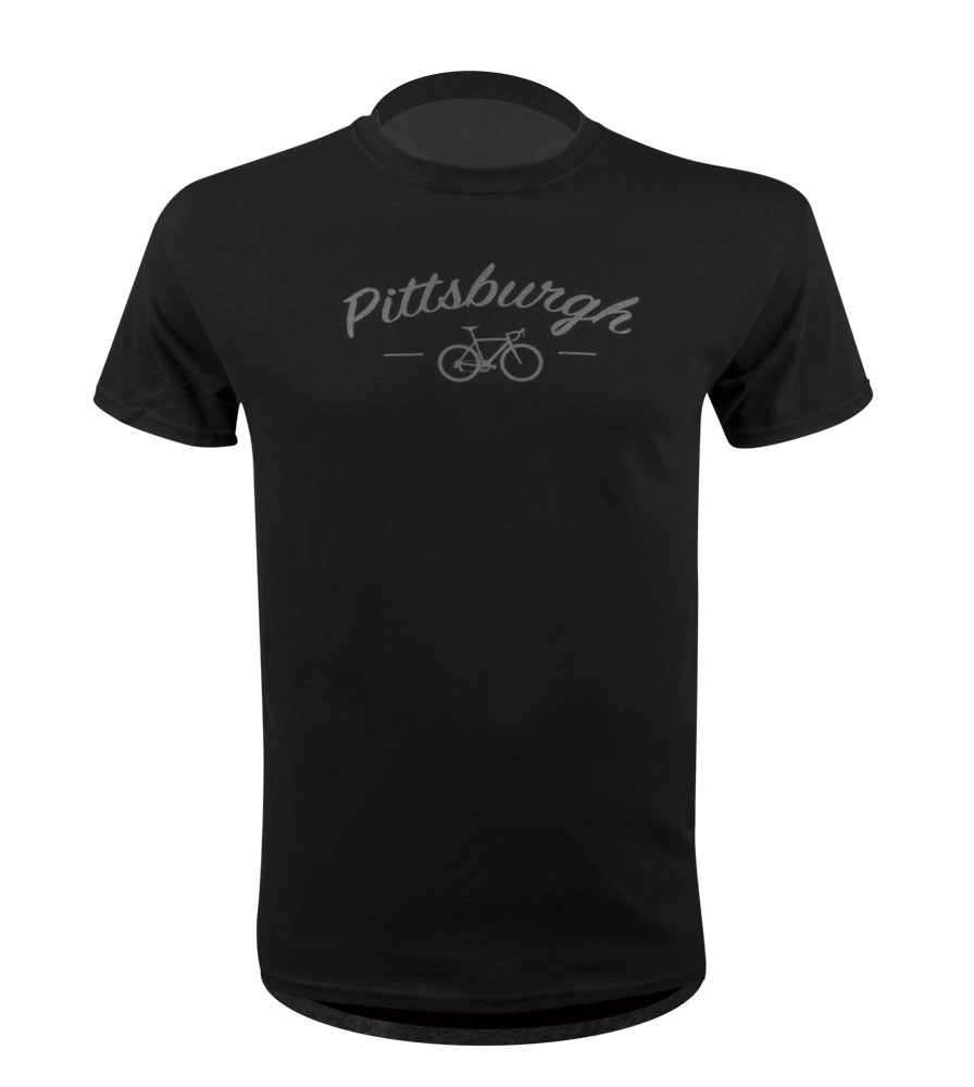 Aero Tech Cycling Destinations T-Shirt - Pittsburgh Bicycle Tee Questions & Answers