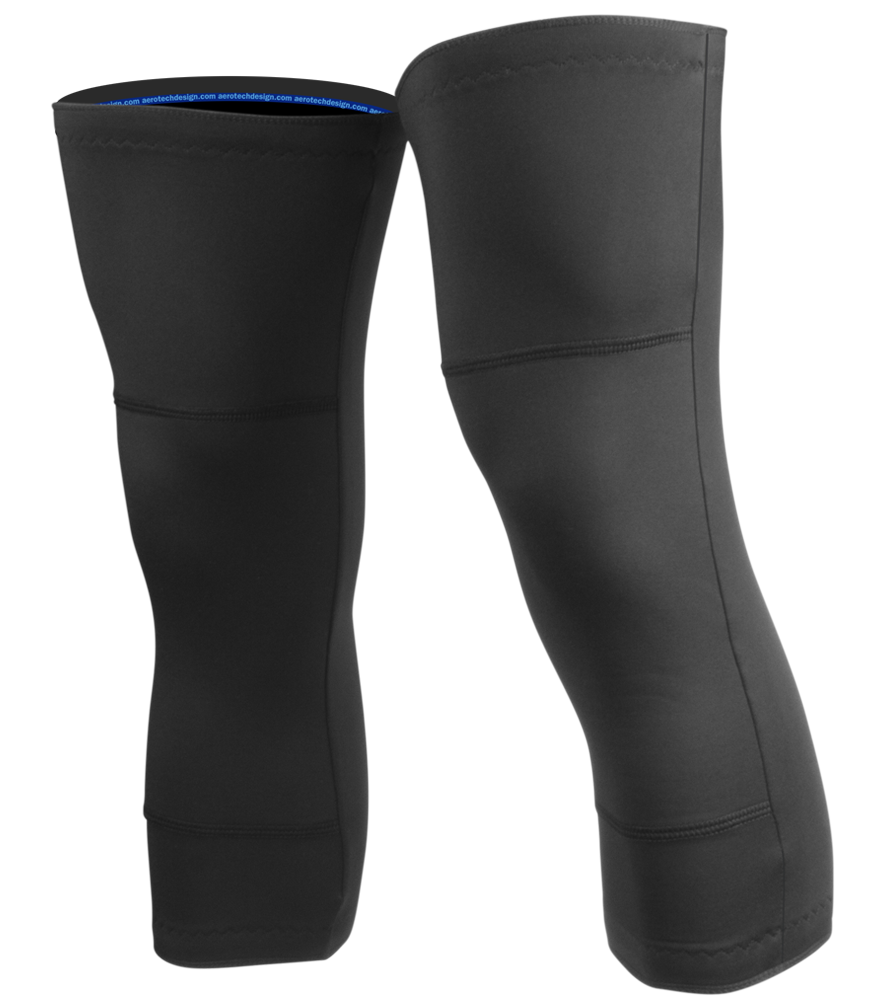 Aero Tech Cold Weather Knee Warmers - Double Layer Stretch