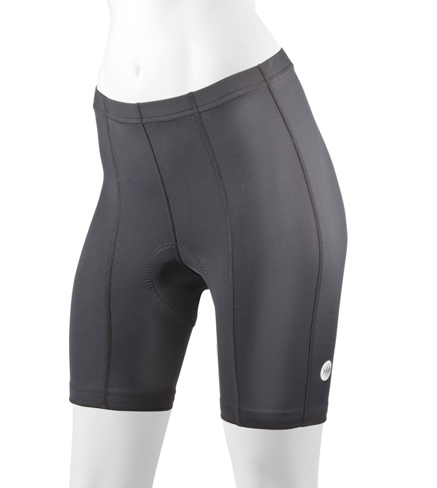 Aero Tech Women's Century Cycling Thick PADDED Bike Short BLACK