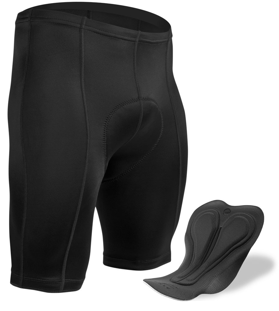 what is the inseam on the mens shorts that have the thickest padding advertised for century rides
