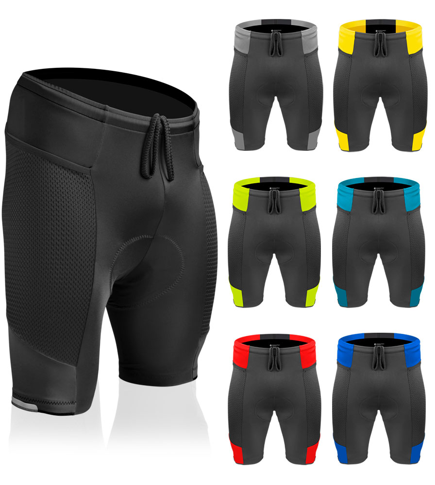 What are the washing instructions for the gel pad aspect of the Touring shorts?