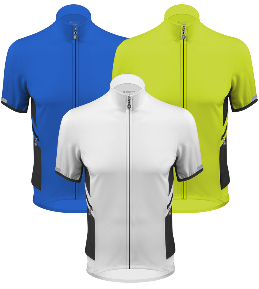 Aero Tech Elite Recumbent Bicycle Jersey - Bent Rider Shirt with zippered pockets