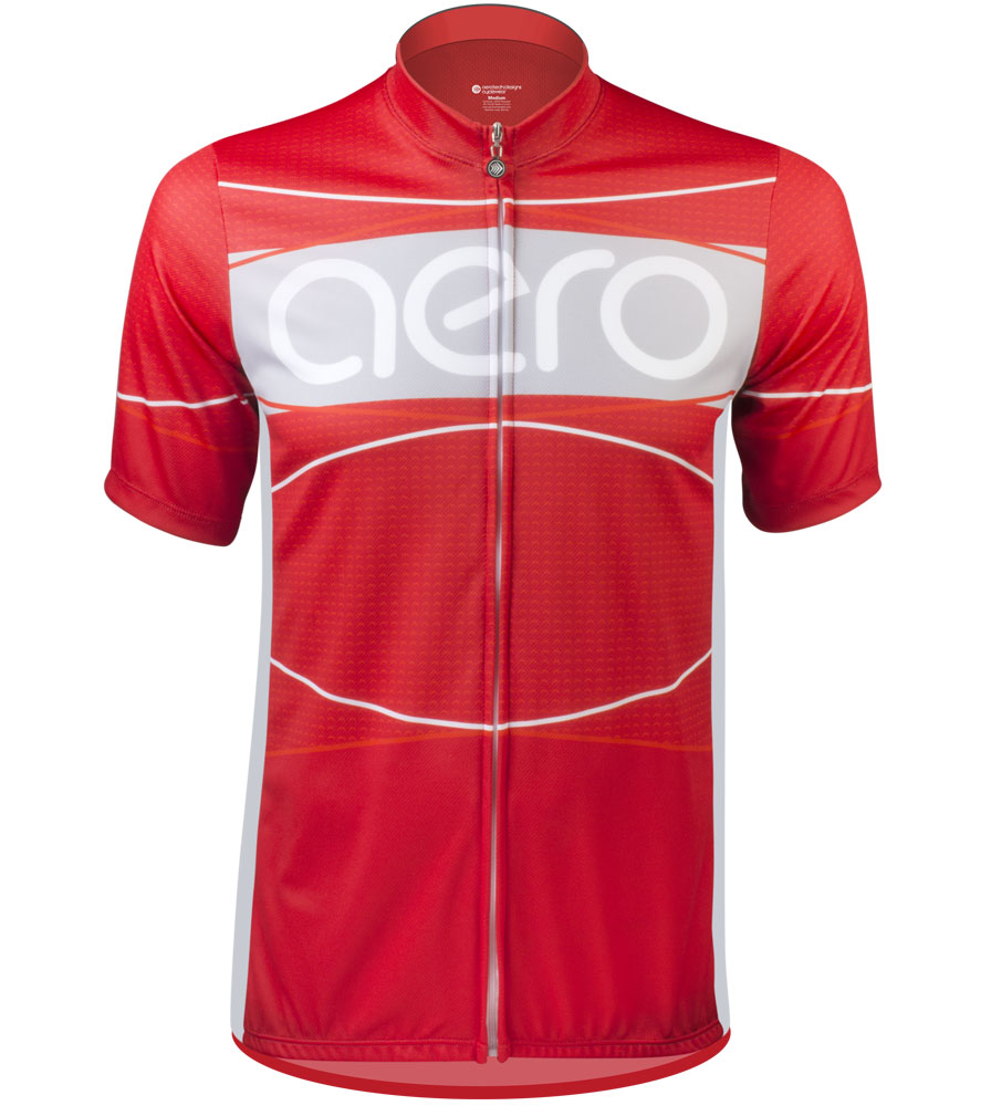 Aero Tech TALL Men's Sprint Jersey - Aero Detour - Red, Blue or Yellow - Made in USA