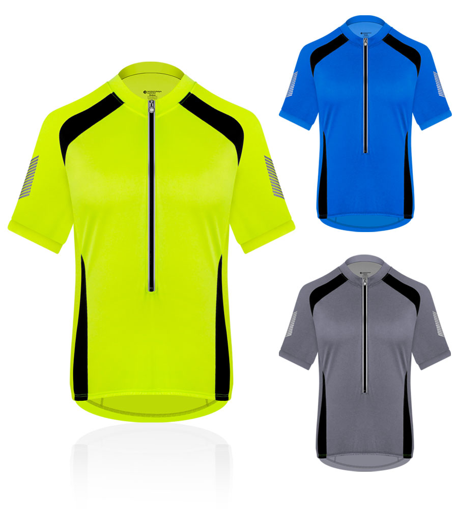 Aero Tech Men's Elite Coolmax Cycling Jersey w 3M Reflective for Visibility