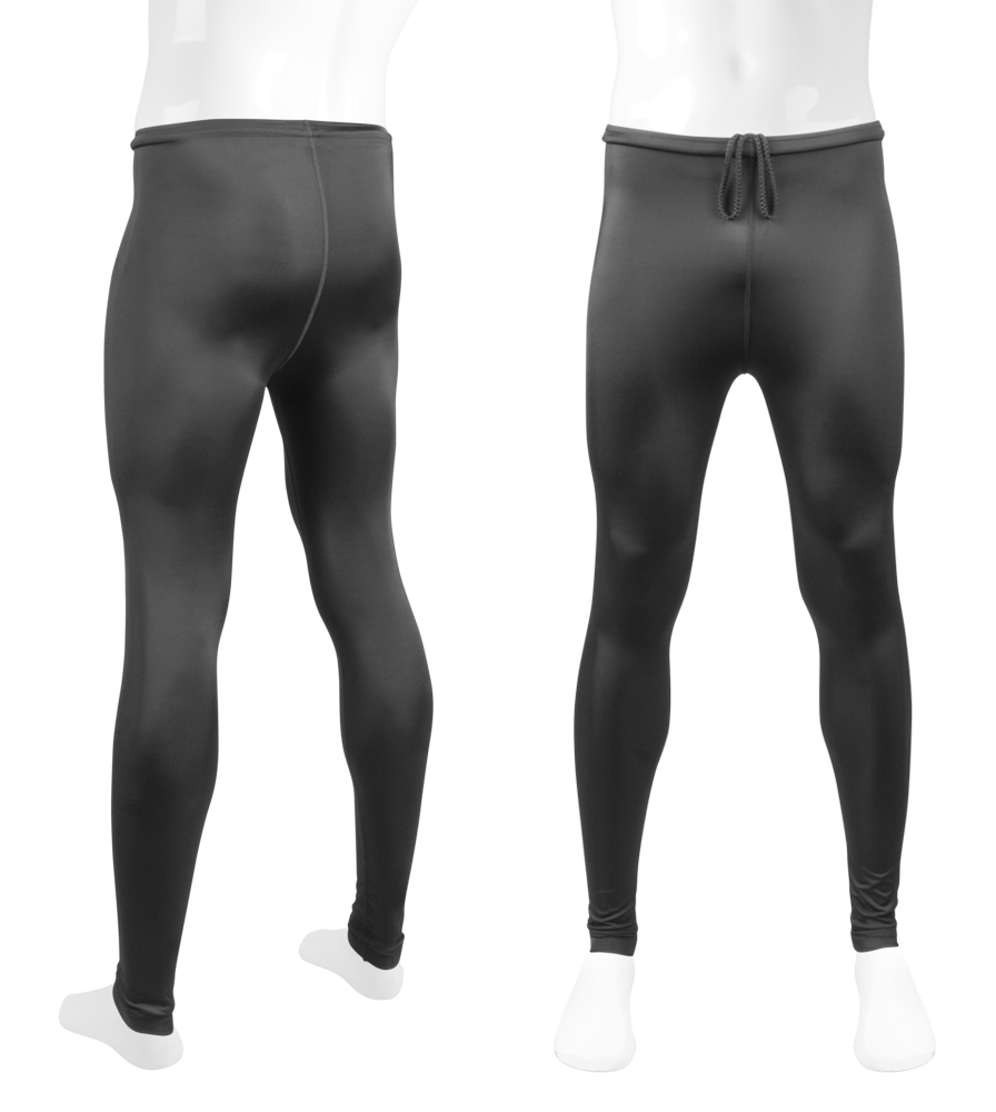Aero Tech TALL Men's USA Classic Black Spandex UNPADDED Workout Tights