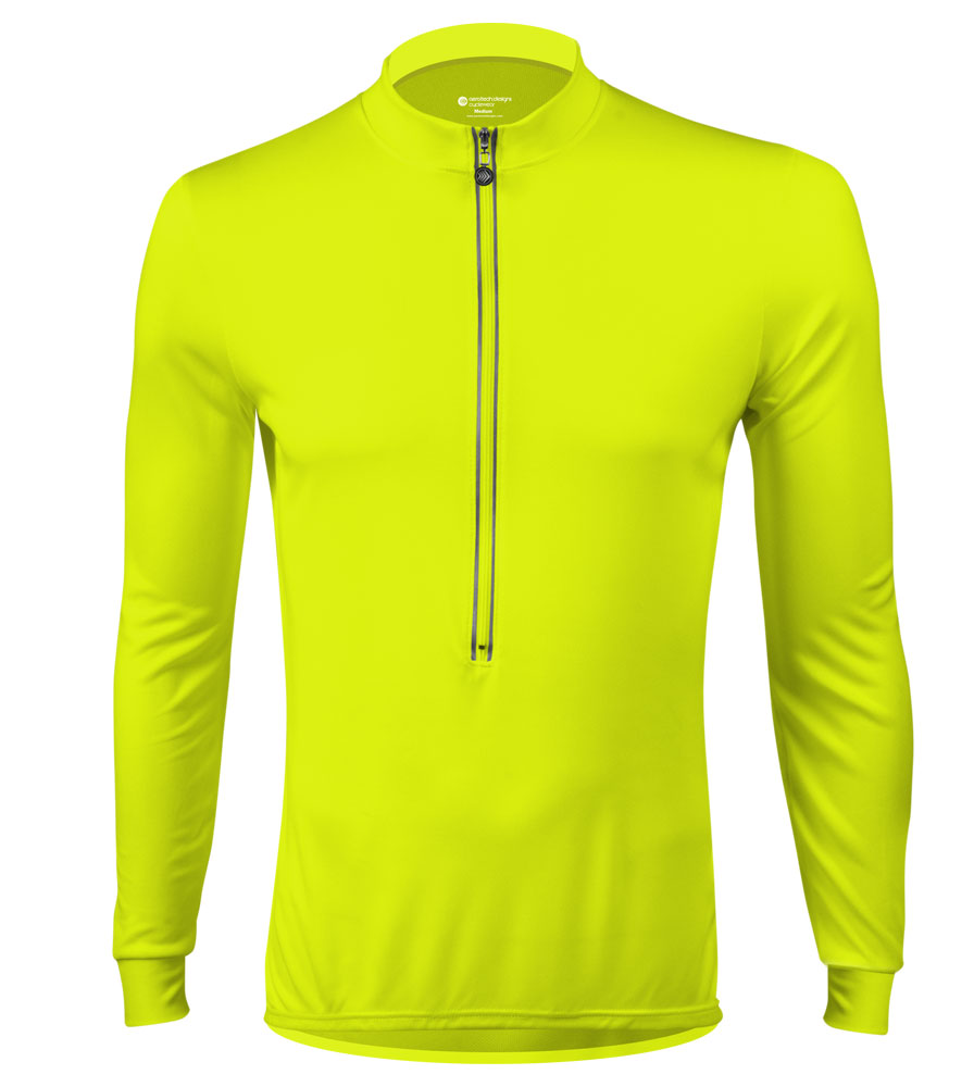 Aero Tech Long Sleeve Cycling Jersey High Visibility Safety Yellow