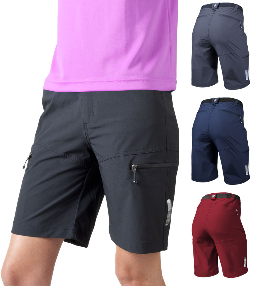 Aero Tech Women's Urban Cargo Shorts - Multi-Sport UNPADDED Commuter