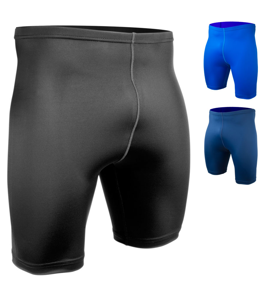Aero Tech BIG Men's USA Classic UNPADDED Spandex Compression Exercise Shorts