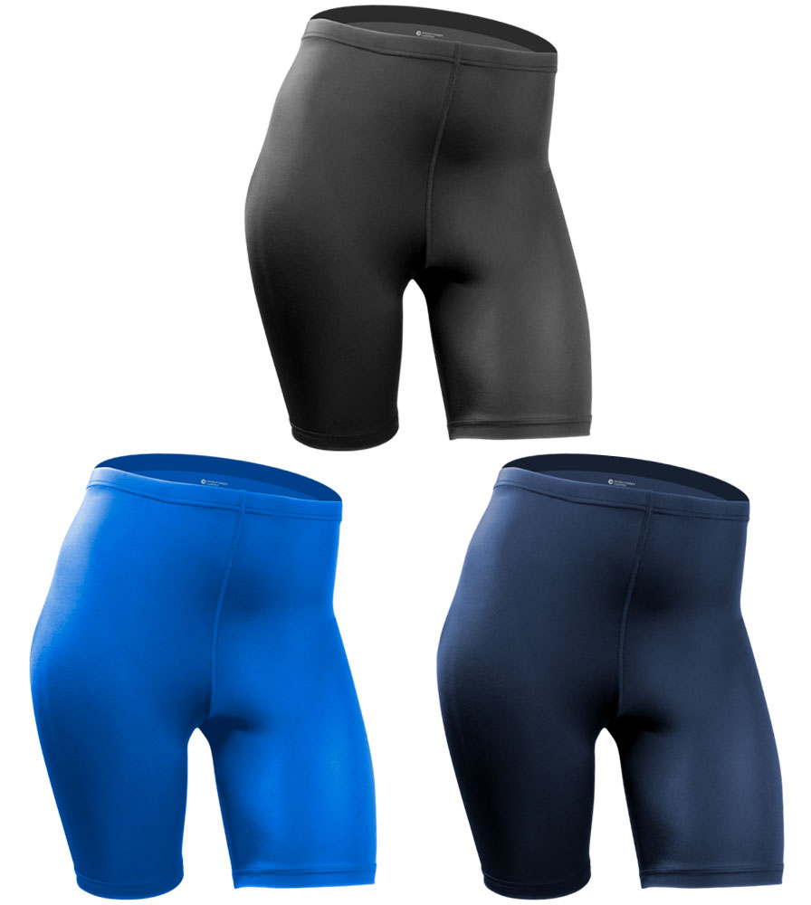 Aero Tech PLUS SIZE Women's USA Classic Bike short Style UNPADDED Compression Workout Short