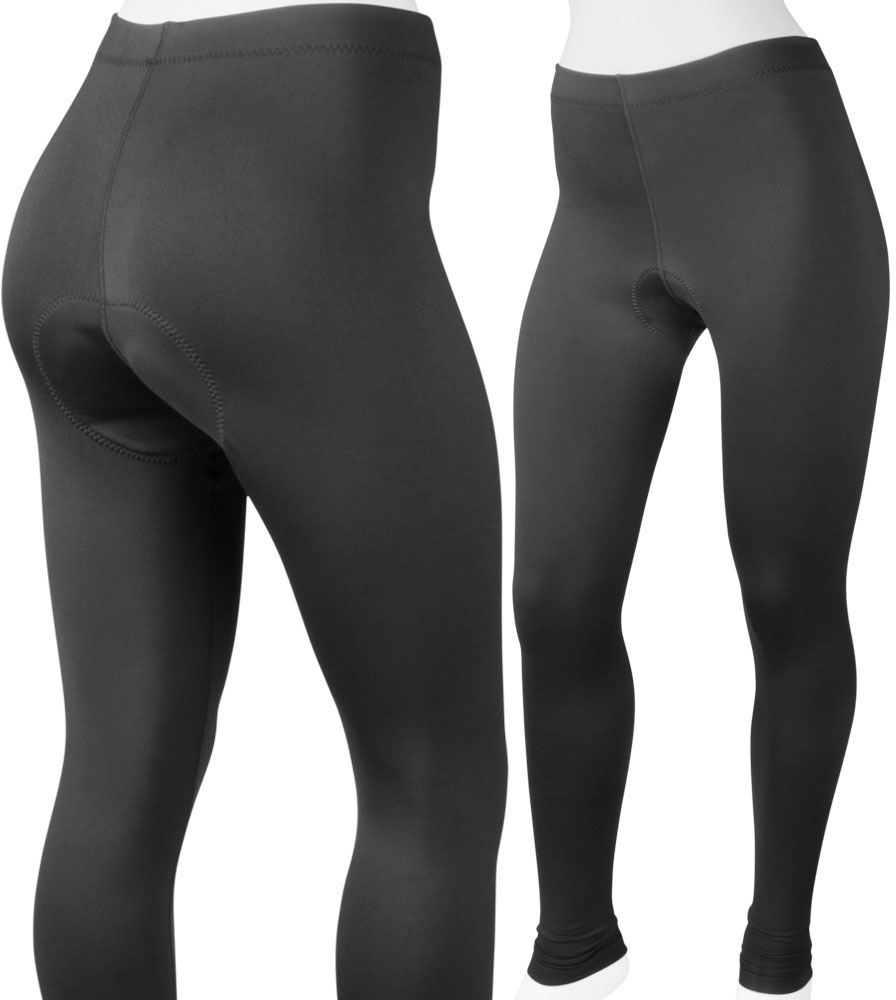 Aero Tech Women's Stretch Fleece PADDED Cycling Tights - Made in USA