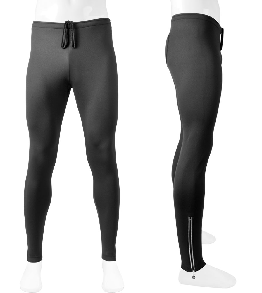 Aero Tech TALL Men's Stretch Fleece UNPADDED Exercise Pants  with reflective zipper ankle