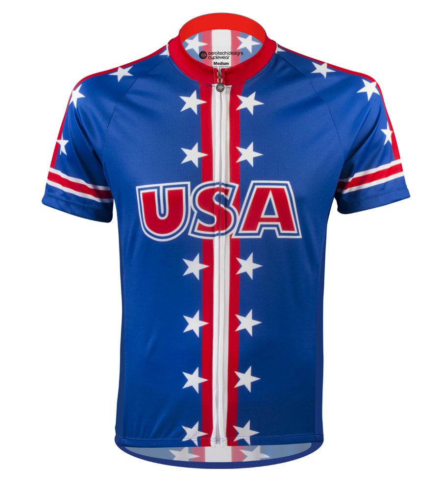 Aero Tech Men's Peloton Jersey - USA Theme Jersey - USA Cycling Jersey Questions & Answers