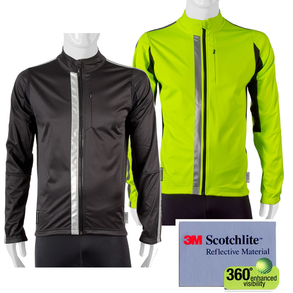Aero Tech High Visibility Full Zip SoftShell Cycling Jacket with 3M Scotchlite 360 Reflective