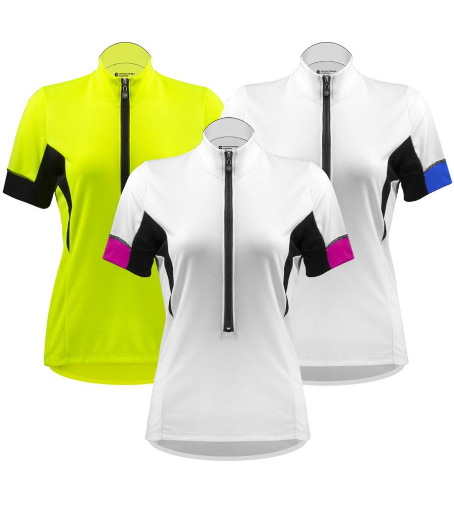 Aero Tech Women's Elite Cycling Jersey with Coolmax Micro-Mesh Fabric