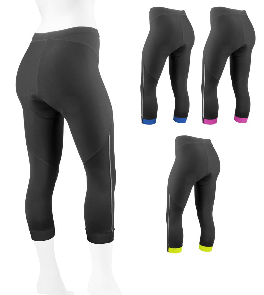 Aero Tech Women's Victoria Capri - Supplex Fitness UNPADDED Knicker Made in USA